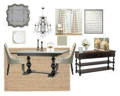 """French Farmhouse dining room"" by shelley-lbc on Polyvore featuring interior, interiors, interior design, home, home decor, interior decorating, Dash & Albert, Pier 1 Imports, Ballard Designs and Home Decorators Collection"