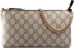 c2e5bb5dd895b Gucci GG Supreme canvas wrist wallet Gucci Wallet, Gucci Purses, Wristlet  Wallet, Purses