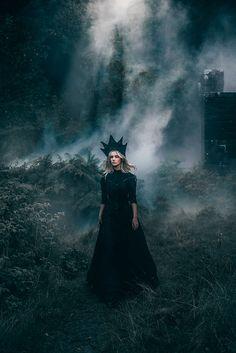 """""""The Black Widow"""" — Photographer: Adam Bird Model: Lauren Hallworth"""