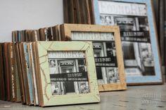 Neue Rahmenformate im Rahmenladen für quadratische Fotos 13 x 13 cm oder 20 x 20 cm. Hergestellt aus recycelten Holztüren. Magazine Rack, Storage, Home Decor, Pictures, Recyle, Picture Frame, Deko, Purse Storage, Decoration Home