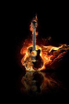 Hot Guitar Mobile Phone Wallpaper