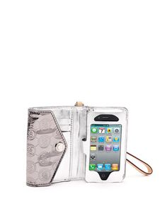 Michael Kors IPhone clutch- not personally big on logo prints- but perfect for the grocery store, gym, movies, etc..