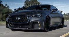 The Infiniti Project Black S concept features hybrid technology and 563 HP. Infiniti Q50, Geneva Motor Show, Future Car, Future Tech, Bmw M4, Automotive News, Big Challenge, Car Manufacturers, Cool Cars