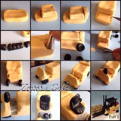 Forklift Cake Topper Tutorial PART N°1 https://www.facebook.com/photo.php?fbid=466429626810202&set=pb.392169324236233.-2207520000.1384469278.&type=3&theater