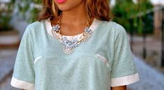 """Soy una chica normal"" shirt and Lovelix necklace"