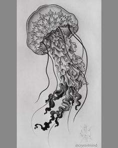 """#blackwork #design #projekt #mandala #pattern #medusa #jellyfish #jellyfishtattoo #meticulous #dotwork #pointillism #stippling #stipple #dots #shading…"""