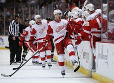 May 12 - Justin Abdelkader is super pumped after his shorty.