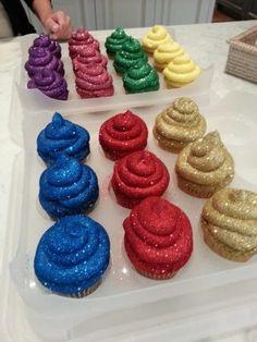 Glitter Cupcakes :)