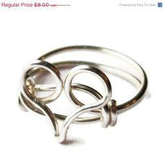 Black Friday  Silver Heart Ring Custom Size by DistortedEarth