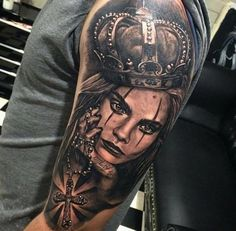 Inspired by model Cara Delevingne, a great tattoo by Dylan Weber.