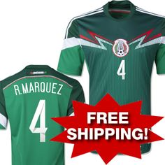 Best Thailand Quality Brazil World Cup Mexico Jersey Soccer Jerseys Red  Green Soccer Jersey  4 R.MARQUEZ Free Shipping  16.98 0845091b3
