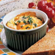 "Cheesy Ham Cups Recipe -""These individual ham and cheese casseroles are a unique way to serve brunch, and they're easy to make, too,"" comments Barbara Nowakowski from North Tonawanda, New York."