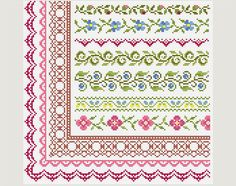 Cross Stitch border - Cross Stitch patterns- Cross Stitch edge - Embroidery Borders. This is a digital Cross stitch pattern that you can instantly download from Etsy after purchase. Patterns include a full color chart with color symbols, a thread legend. The whole chart on one page, and also broken up into 4 pages (which makes the symbols easier to read). Digital PDF format , not a finished product. Cross Stitch patterns are for personal use only. The patterns may not be re-sold or…