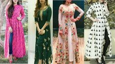 Long kurtis with front cuts for jeans Front Cut Kurti, Side Slit Kurti, Long Kurti With Jeans, Frock Style Kurti, Indo Western Kurti, Designer Kurtis Online, Stylish Kurtis, Long Kurtis, Latest Outfits