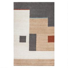 Tan and Ivory Abstract Woven Jute Heera Area Rug - v1 Tan Rug, Emilio, Jute Rug, Kilim Rugs, Natural Rug, Rug Size, Hand Weaving, Loom Weaving, Area Rugs
