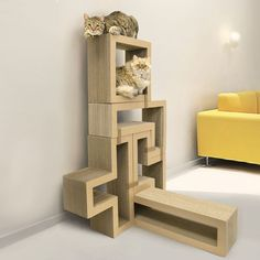 KATRIS Modular Cat Tree with 5 Blocks in Different Styles
