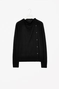 Black Folded front cardigan