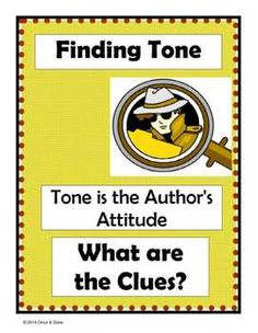 Students read clues from the task page and fine the tone on the recording sheet. This activity will help the students look for facial expressions, body language and key words to help them infer the tone.   Title page Task page (I print 8 for Independent work stations) Recording sheet Answer key Instructions on how to assemble the activity