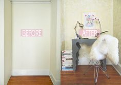 a creative day: DIY gold floral wallpaper