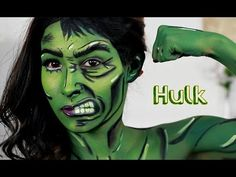 She Hulk/ Hulk Makeup Tutorial Nyx face awards - YouTube