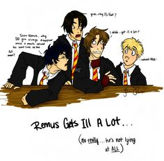 Remus Gets ill A Lot by ~eightbreeze on deviantART
