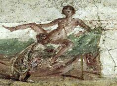Erotic art in Pompeii (low quality)  This page collects erotic images of paintings and objects in Pompeii of comparably low quality. These are often not yet fully restored (and may never be), or have not been at the time the photos were made, or are relatively bad scans, or low resolution. If you have higher quality versions of any of these images, please remove the low quality version and add the high quality version to the Erotic art in Pompeii page.