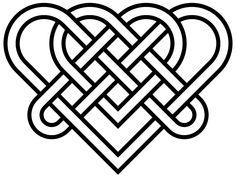 Free celtic knots heart coloring pages Celtic Symbols, Celtic Art, Mayan Symbols, Egyptian Symbols, Ancient Symbols, Cute Love Heart Images, Vikings Art, Celtic Heart Knot, Celtic Knots