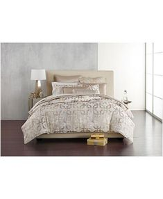 Hotel Collection Fresco Bedding Collection, Created for Macy's & Reviews - Bedding Collections - Bed & Bath - Macy's Green Velvet Armchair, Bed Cover Design, Bed & Bath, Bed Covers, Dream Bedroom, Bedding Collections, Home Living Room, Fresco, Luxury