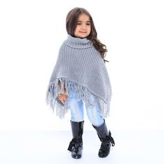 This pretty pullover comes with all of the sass Trendy Girl, Turtle Neck, Pullover, Knitting, Pretty, Kids, Clothes, Fashion, Young Children
