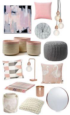 Coastal Style: Colour Trend | Pink + Grey