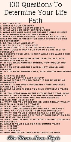 The questions you ask yourself to determine your life path. Not only that but what matters is how you set them up. The wrong question raises the wrong emotions and the answer is not valid in your case. Memoir Writing, Journal Writing Prompts, Deep Questions, Life Questions, Journal Questions, Therapy Journal, Self Care Bullet Journal, Mental Health Journal, Writing Challenge
