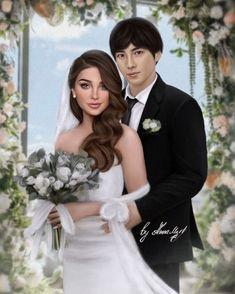 Cute Couple Art, Cute Couples, The Sims4, Wedding Art, Bridesmaid Dresses, Wedding Dresses, Romance, Instagram, Club