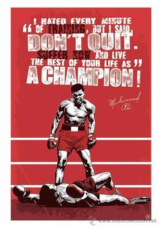 Muhammad Ali poster - designed by Joussef Habchi The idea of sport is a procedure Muhammad Ali Quotes, Muhammad Ali Boxing, Boxing Posters, Boxing Quotes, Mohamed Ali, Ufc Boxing, Boxing Workout, Jiu Jitsu, Protest Posters
