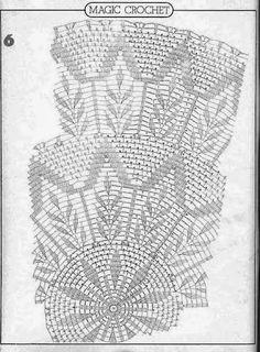 Magic Crochet Nº 16 - Edivana - Picasa Web Albums Crochet Tablecloth Pattern, Crochet Doily Diagram, Crochet Doily Patterns, Crochet Mandala, Crochet Chart, Thread Crochet, Filet Crochet, Crochet Scarves, Crochet Motif