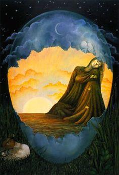 Legend of Kalevala. Cosmic Egg, World Mythology, Creation Myth, Believe In Magic, Ancient Art, Finland, Illustrators, Celtic, Design Art