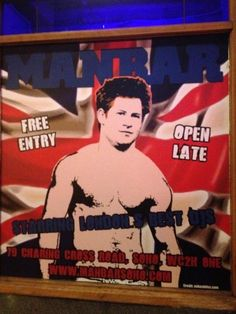 Prince Harry Goes Shirtless!  Gay lifestyle store Prowler, put up a giant poster of Prince Harry in London, England.