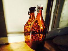 Sun reflections through bottle