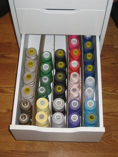 Serger Thread Drawer (I will have to dedicate one of my drawers for my new threads...)