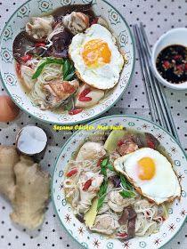Cuisine Paradise | Singapore Food Blog | Recipes, Reviews And Travel: [Recipes] Sesame Chicken Mee Suah - 麻油鸡面线