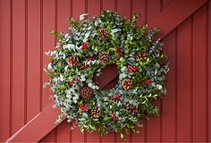 Eucalyptus Wreath / You can Add Santa to Your photos. Try it out for Free at Capturethemagic.com
