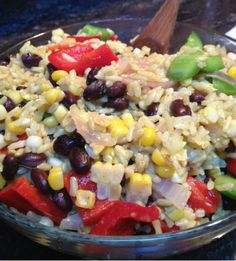 Spiced Brown Rice with Veggies & Black Beans