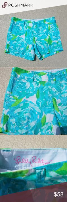 First Impressions Lilly Callahan Shorts Holy Grail Lilly print!!! These BEAUTIFUL shorts are size 00 classic Lilly Callahan shorts. First impressions print. 5 inch inseam. Excellent used condition. PERFECT FOR SUMMER! Lilly Pulitzer Shorts