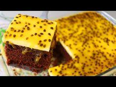 "LA COMBINACIÓN PERFECTA TORTA DE CHOCOLATE Y COBERTURA DE MOUSSE DE MARACUYÁ "" By Dika da Naka "" Si te gusta dinos HOLA y dale a Me Gusta MIREN …   Receitas Soberanas Brownies, Cupcakes, Desserts, Recipes, Food, Youtube, Roasted Pineapple, Delicious Desserts, Cake Topper Banner"