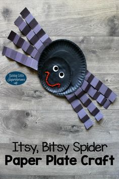 Itsy Bitsy Spider Paper Plate Craft