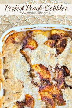 This is a PERFECT peach cobbler recipe, and it is SO EASY!