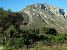 El Montgó des de la Plana de Justa. Xàbia