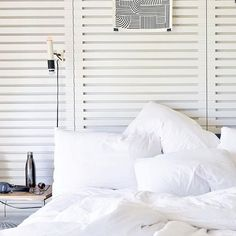 Cosy White Bedroom with S'well Bottle