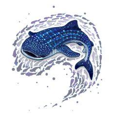 Awesome 'Whale+Shark' design on TeePublic!
