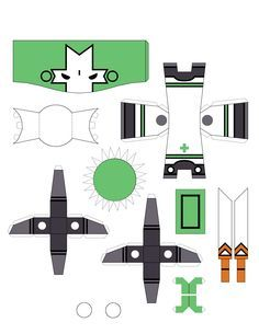 Castle Crashers Green Knight paper craft