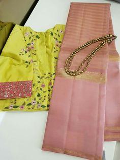 Dusky Pink Saree Blouse Designs Silk, Saree Blouse Patterns, Cutwork Saree, Maggam Work Designs, Simple Sarees, Indian Silk Sarees, Stylish Blouse Design, Saree Trends, Saree Shopping